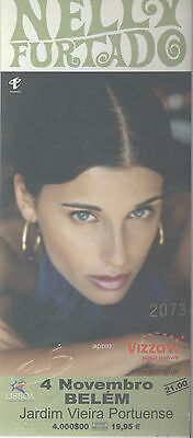 Nelly Furtado Used Concert Ticket  Portugal