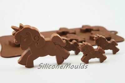 UNICORN Pony Horse Lolly Chocolate Candy Silicone Bakeware Mould Cake Wax Soap