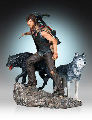 The Walking Dead Daryl Dixon And Wolves Statue GENTLE GIANT