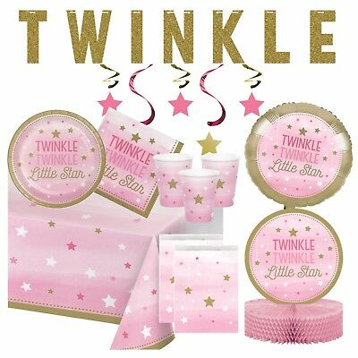 TWINKLE LITTLE STAR - Baby Shower Party, Pink Decorations,Games,Banners,Girl