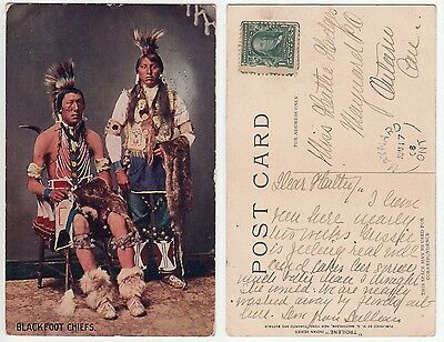 Häuptlinge d.Blackfoot Indianer,Native American Indian Blackfoot Chiefs  um 1925