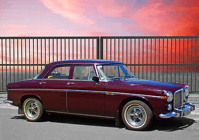 Automotive Art - Rover P5 3.5 Saloon - Limited Edition (25)