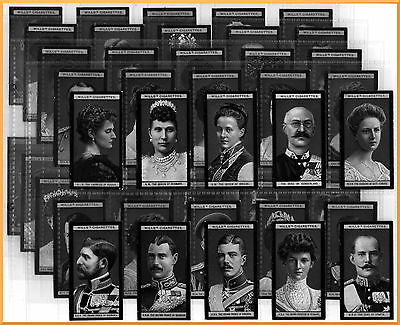 Wills Cigarette Cards - Portraits of European Royalty - Complete Set 100 1908