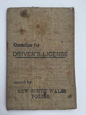 AUD 1930s vintage container / wallet for Driver's License New South Wales Police