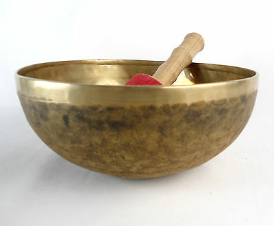 "Bol chantant tibétain ""Chaken"" 1530 gr. 23,8 cm - Népal singing Bowl"