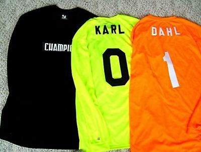 Field Hockey Goalie Jerseys, Your Number Added Free.  56 New In 3 Color Choices.
