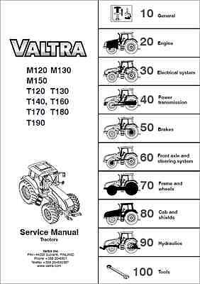 Valtra M120/130/150 T120/130/140/150/160/170/180/190 Tractor Service Manual 0310