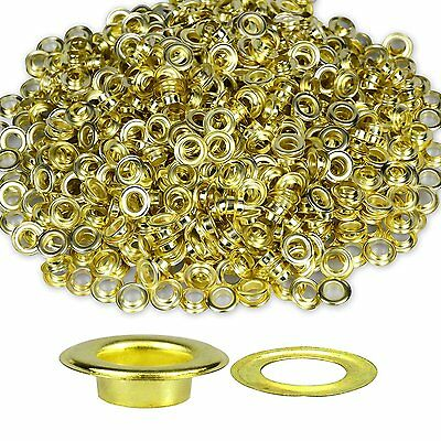 Eyelets Grommet For Leather Craft Banner with Washer Solid Brass -12mm 100 Sets