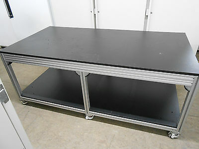 "Lab/work Bench/table 71 X 36 X 29"" Tall With 3/4"" Black Plastic Composite Top"