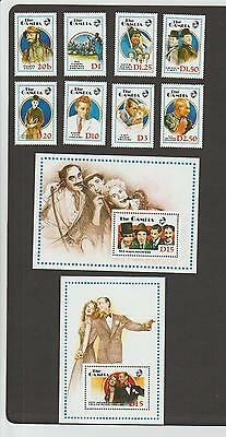 Gambia 768-777 - set of 8 + 2 S/S - NH - Entertainers