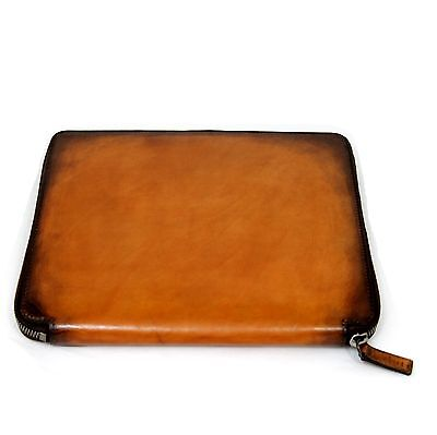 BERLUTI Organizer / Tablet-iPad Holder Cacao Venezia Leather New! RP $1,580