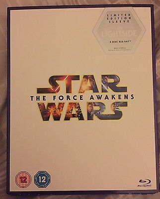 Star Wars,The Force Awakens Blu-Ray Box With Limited Edition Slipcase Bonus Disc