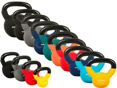 Cast Iron Kettlebells Neoprene Weight Exercise Strength Gym Training 4Kg- 24Kg