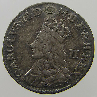 Great Britain 2 Pence Charles Ii 1690-1692 #t7 473