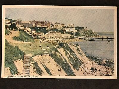 Vintage Postcard - Isle Of Wight #76 - RP Ventnor From The West - G. Dean & Co