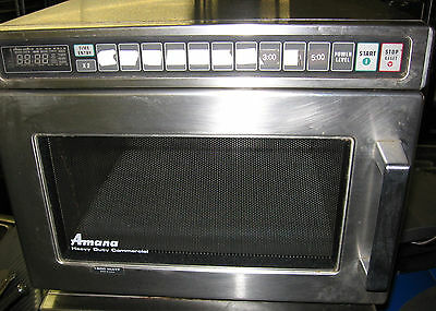 Amana Commercial Restaurant Microwave Heavy Duty Stainless Steel NSF UL 1800 W