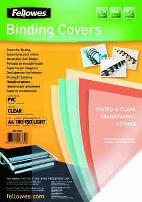 Fellowes PVC Cover A4 150 Microns Clear 5376001 (PK100)  AC NEW