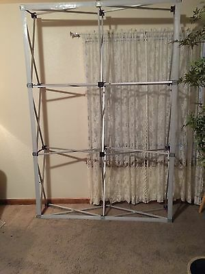 Tension Fabric Velcro Straight Pop Up Display 7' Frame Only
