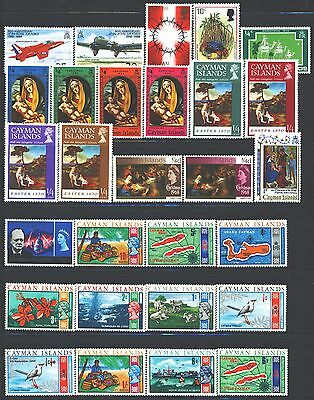 CAYMAN ISLANDS Collection of 38 MNH 1953-2017 Era All Different