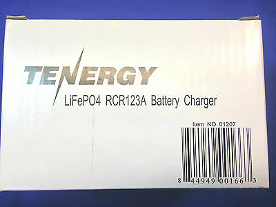 LiFePO4 RCR123A Battery Charger NEW (Tenergy)