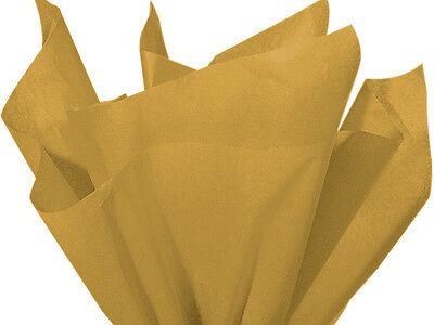 """ANTIQUE GOLD Tissue Paper for Gift Wrapping 15""""x20"""" Sheets Eco-Friendly"""