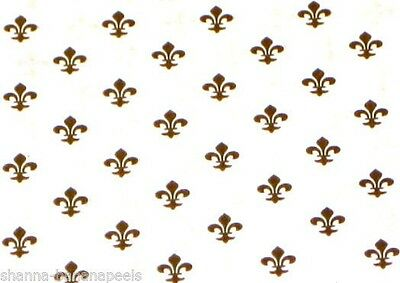 """FLEUR DE LIS Printed Tissue Paper for Gift Wrapping 20""""x30"""" Sheets"""