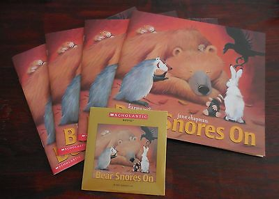 Bear Snores On Karma Wilson New Scholastic Listening Center 4 Books with CD