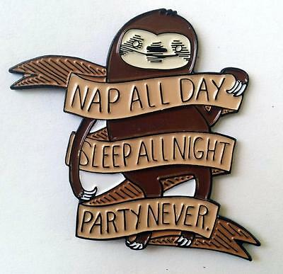 Nap All Day Pin Silver Sprocket