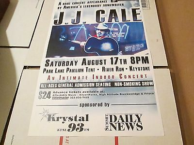 JJ CALE concert poster August 17, 2002 River Run KEYSTONE COLORADO unmounted