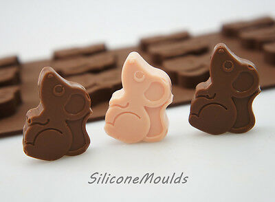 12 cell Field Mouse Mice 7g Chocolate Candy Silicone Bakeware Mould Cookie Soap