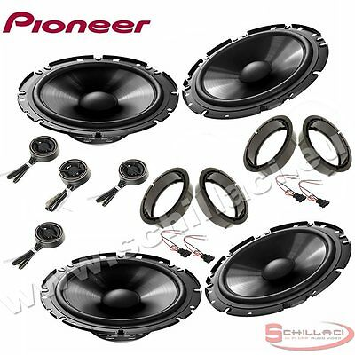 Car stereo front and rear 8 speakers kit for PIONEER Volkswagen VW Passat B5 96-
