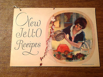 Vtg 1925 1926 New Jell-O Jello Recipes Advertising Booklet, Linn Ball, LeRoy NY