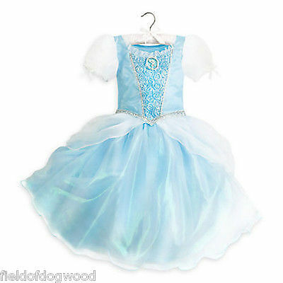 NWT Disney Store Cinderella Costume Dress Princess Gown Rose 5/6 7/8 9/10