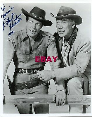 ROBERT HORTON signed personalized photo WARD BOND WAGON TRAIN 1991
