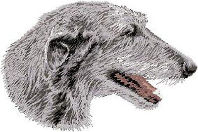 Irish Wolfhound Portrait  embroidery Patch