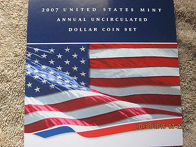 2007 US Mint Annual Uncirculated Dollar Coin Set
