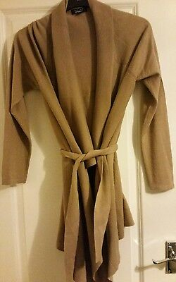 Size 12 New Look Maternity waterfall cardigan camel/ beige