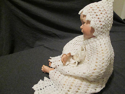 Hand knitted crochet Baby Shawl Sweater