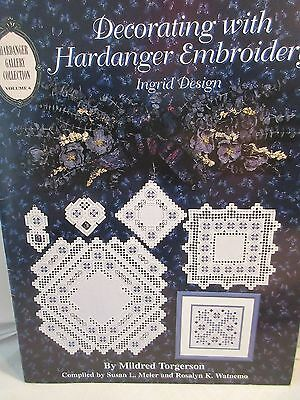 DECORATING WITH HARDANGER EMBROIDERY INGRID DESIGN Chart by Mildred Torgerson