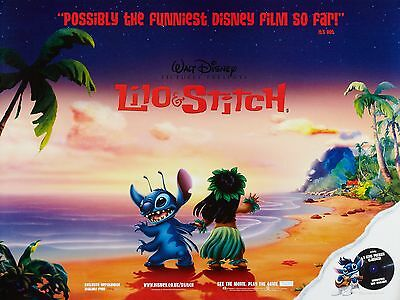 "Lilo and Stich 16"" x 12"" Reproduction Movie Poster Photograph"