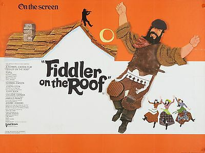 "Fiddler on the Roof 16"" x 12"" Reproduction Movie Poster Photograph"