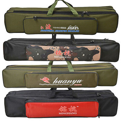 Fishing Rod Holdall Bag Double Layers Organizer Tackle Rod Carry Case 70/80/90cm