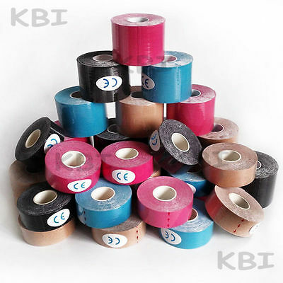 2rolls 2.5/5/7.5cm Kinesiology Tape Sports Physio Muscle Strain Injury Support