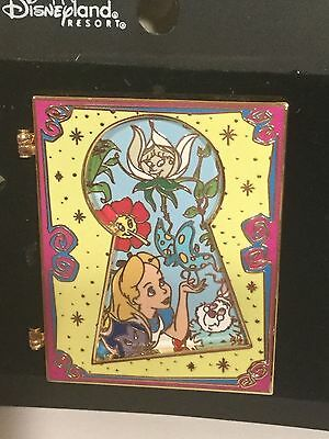 Alice In Wonderland Keyhole Flowers Hinged Trading Pin LE 250 Disney Shopin RARE