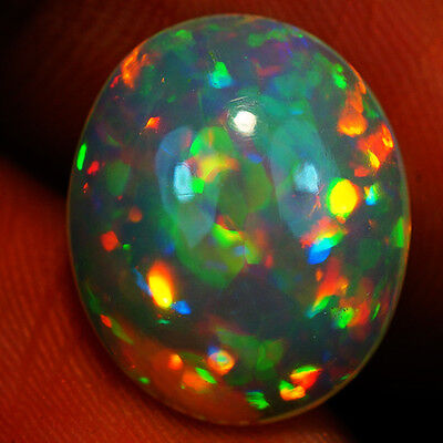 5.12 ct AAA QUALITY BEAUTIFUL FLASHY MULTI COLOR WELO CABOCHON OPAL-RJ583