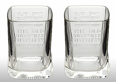 Bushmills Whiskey Glass X 2 New