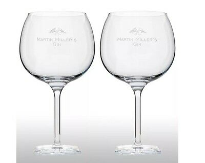 Martin Millers Gin Balloon Glass X 2 New
