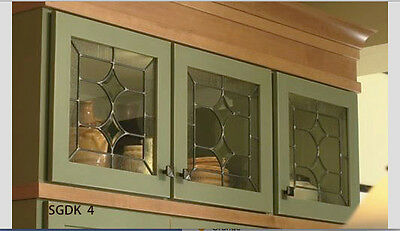 Top Cabinet door glass inserts for New & Existing Cabinet  made to your size