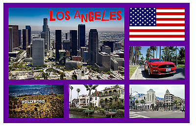 Los Angeles, Usa - Souvenir Novelty Fridge Magnet - Sights - Gift - New - Xmas