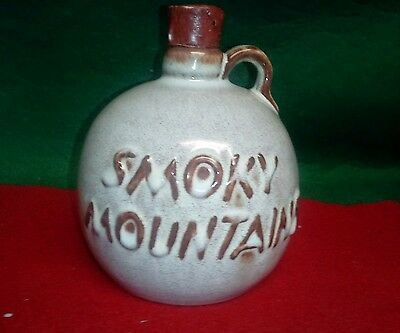 Great Smoky Mountains jug with bear on it ceramic